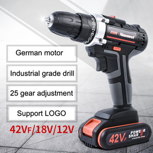 Broca 2Speeds Elétrica Cordless Screwdriver 21V 18V 12V bateria de lítio Broca Mini furadeira sem fio chave de fenda Power Tool VT0937