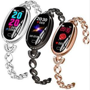 Moda Kadınlar Akıllı İzle E68 Bilezik Spor Tracker Nabız Tansiyon Kadın Spor Akıllı Bileklik Smartwatch