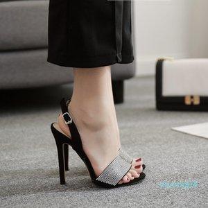 Fashion2019 A Estilo Verão Uma Traga Luxurious Rhinestone bem com Sandals Sim Do 40 Z04