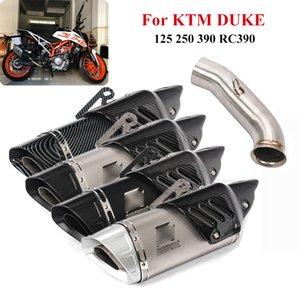 Para DUKE 125 250 390 RC390 2017-2019 Slip On Motorcycle Exhaust Tips Silenciador Tubo Mid Ligação Tubo Exhaust System