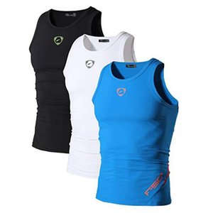 Jeansian 3er Pack Sport Tank Tops Tanktops ärmel Shirts Laufen Grym Workout Fitness Schlank Compression