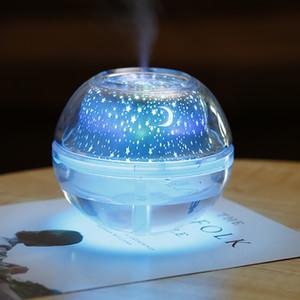 500ml umidificador de ar USB desktop Aroma Difusor Ultrasonic Noite de Cristal lâmpada do projetor Maker Mist LED Para Casa Y200113