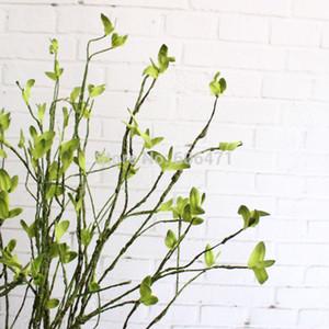 Planta verde 100cm Tela verde follaje de la hoja de la ramita artificial alta de la simulación de la boda decoración casera de la casa Usando