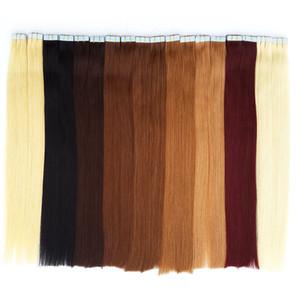 Online verkäufe Charismatic Tape Haarverlängerungen Haut Einschlagband Haar Brazilan Gerade Beste Qualität Remy Menschenhaar 12-24 zoll 20 farben