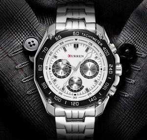 2020 CURREN 8077 di vendita caldi Mens orologi analogici al quarzo classico di affari trendy uomini dell'acciaio inossidabile OEM montre de luxe