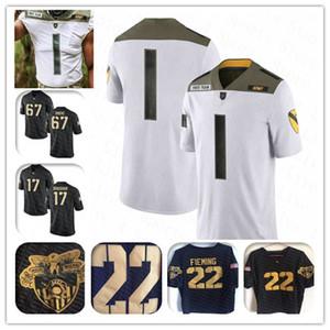NCAA encargo 2020 del jersey del fútbol Army Black Knights Hombres de Asberry Kelvin Hopkins Jr. Darnell Woolfolk Andy Davidson James Gibson Kell Walker