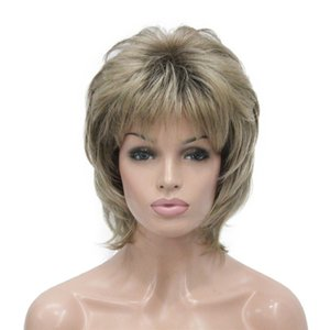 Cheap Synthetic None-Lace Wigs StrongBeauty Women Synthetic wig Short Hair Auburn Blonde Natural wigs Capless Layered Hairstyles