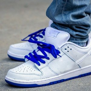 "Cracked ice blue blue and white porcelain SB Dunk Low Pro Premium ""White Game Royal"" dunk series low-top casual sports skateboarding shoe pp"