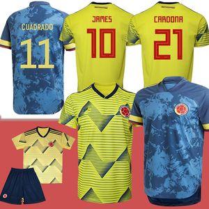 Copa America Columbia Soccer Jersey 19/20 Home Soccer Shirt Falcao James Cuadrado Camiseta de Futebol