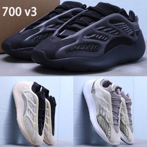 Nouveau Azaël Alva 700 V3 kanye hommes ouest chaussures de course blanc phosphorescent extérieur noir hommes femmes Baskets US 5-11