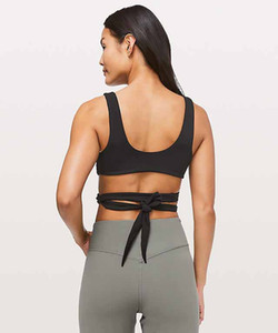 LU-21 Sexy Mulheres Yoga nó de amor Bra Ainda Your Mind Tops Outfits Correndo esportes fitness colete roupas Workout Gym Backless Lady Underwear