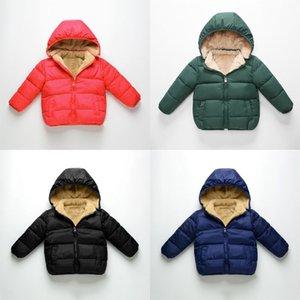 Los niños de invierno para niños chaquetas Parkas muchachos de las niñas caliente de la capa de espesor de terciopelo bebé de los niños prendas de vestir exteriores del sobretodo infantil 07