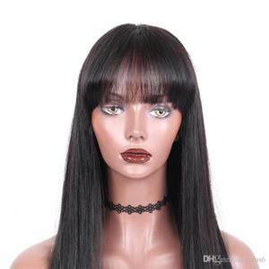 13x4 фронта шнурка человеческих волос Парики Европейский человеческих волос прямых волос полный шнурок с тонкой кожей Периметр парик для B