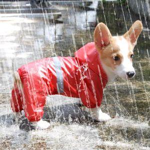 Pet Dog Waterproof Raincoat Jumpsuit Reflective Rain Coat Breathable Mesh Dog Outdoor Clothes Jacket for Small Pet Supplies