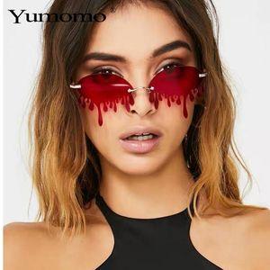 Hot Sale Fashion Water Drop Sunglasses Women Rimless Wave Punk Sun Glasses Luxury Trending Sunglasses Streetwear Gafas Shades ZVhyM