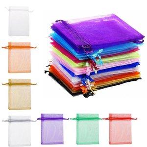 20Pcs Borse gioielli Imballaggio Drawable Organza Bags 7x9cm Gift Bag Bustina Organza / Comunione Decoration