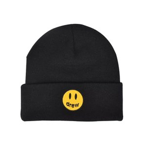 Зимняя Hat Drew Unisex Вязаные шапки Hip Hop моды Patterns Hat для мужчин и женщин Winter Hat