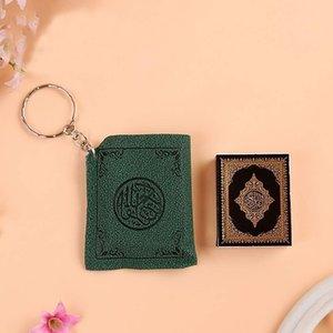 Kreative Mini Islamische Moschee Ark Quran Buch Keychain Mode Schlüsselanhänger Tasche Geldbörse Anhänger Autoschlüssel Halter 4 Farben Religiöse Schlüsselanhänger M177F