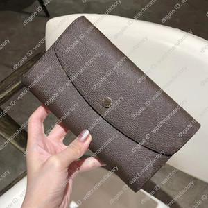 Designer Brieftasche Frauen Ladys Mens-Mappen-Kartenhalter-Organisator langen braune Leinenhandtasche für Frauen Männer Brieftasche Geld-Tasche überprüfen