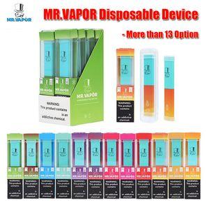 MR VAPOR Disposable Device 13 Style MR.VAPOR Vape Pen Pod Starter Kit 280mAh Battery 1.3ml Cartridge 400 Puffs Vaporizer