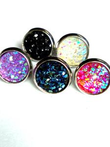 8mm 12 milímetros brincos Natural de cristal de quartzo Geode druzy