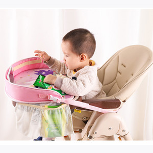 Waterproof Kids Car Table Baby Car Seat Tray Stroller Tray Holder for Children Infant with Storage Bag Mesh Auto Accessories