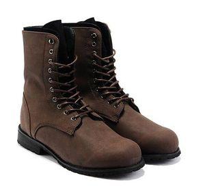 الساخن بيع ريترو الأحذية القتالية الشتاء انكلترا على غرار الرجال من المألوف حذاء عال علوي الأسود الساخن بيع الرجال أحذية الكاحل LS034