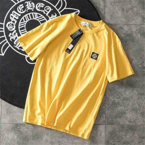 Mens Designer Camisa Marca Camisetas Homens e Mulheres de Manga Curta Top Tees PEDRA Camisas de Luxo Roupas Masculinas Tamanho M-2XL Alta Quanlity