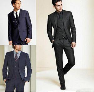 2019 New Formal Tuxedos Suits Men Wedding Suit Slim Fit Business Groom Suit Set S-4 XL Dress Suits Tuxedo For Men (Jacket+Pants+Vest)