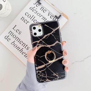 Di lusso della cassa del telefono di iPhone 11 Pro Max XR XS MAX XR 6 7 8plus Samsung Note 10 S10Plus Diamond Ring stand TPU Ca
