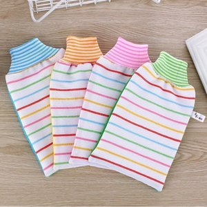 Xin Yin Stripe Cuozao Glove Bath Cuozao A Piece Of Cloth Thickness Double Yarn Dual Purpose Thickening