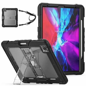 Heavy Duty Case For iPad Mini 123 4 5 Air Pro 9.7 10.5 10.2 11 Impact Hybrid Armor Shockproof Cover Silicone PC Clear Defender Shell 2p