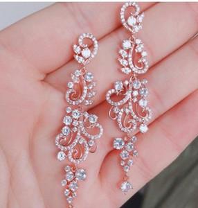 Alta qualidade dimaond cristal 925 prata lady''s earings 35.64vdvdgfgf