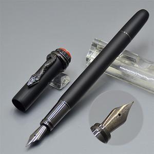 Top serie de herencia de alta calidad Matte Black Classic Pluma estilográfica de lujo AU750 Mediana talla 18k Nib de serpiente con marcas de MB Escritura de plumas de tinta