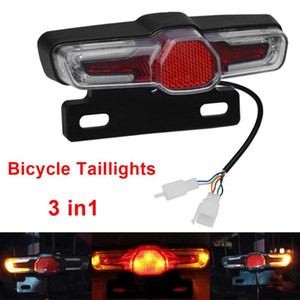 36-60V bike Taillight With Turn Signal Rear Rack Lamp 5 Led Bright Light Electric Bicycle Light bike accessories