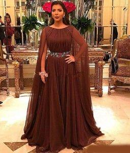Robes de mère de la mariée de la mode marron, plus la taille encolure dégagée sans manches mère de la robe de mariée robe de madrin