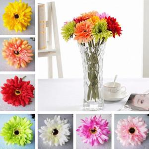 High quality New Simulation flower artificial flower silk flower imitation Gerbera Decorative Flowers 200pcs lot T2I254