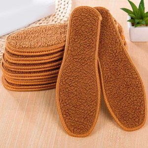 1 pair Unisex Brown Winter Faux Fur Wool Insoles Men Women Warm Soft Thick Insole For Snow Boots High Quality Wholesale
