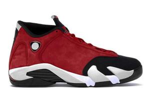 2020 Authentique 14 OG haut Gym Red Mens Basketball Chaussures Gym Rouge Noir Blanc Rétro 14S 487471-006 sport Chaussures de sport ETUI