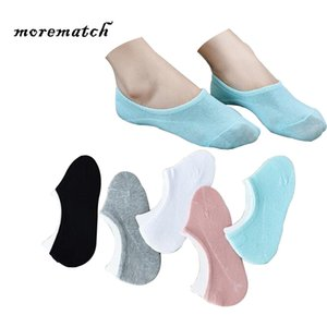 Morematch 1 Pair Spring Summer Women Sock Candy Colors Short Cotton Socks No Show Ankle Socks 5 Colors Optional