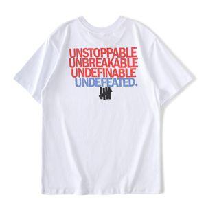 El invicto hombre T-shirt Hombres Mujeres alta calidad Corto Negro Blanco 18ss monopatín camiseta del tamaño S-XL