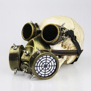 Máscara de Gás Steampunk Homens Máscara Halloween Adereços Máscaras Máscara de Sliver Preto Cosplay Máscaras Máscaras Presentes