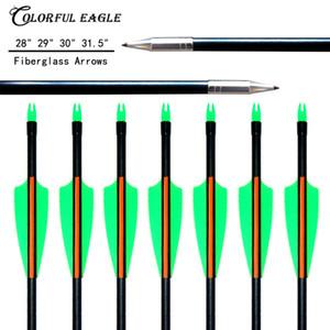 """12 pcs 31.5""""30""""29""""28"""" Fiberglass Arrow 3"""" Vane Archery Target Arrows for Recurve & Compound Bow arrows Shooting practice"""