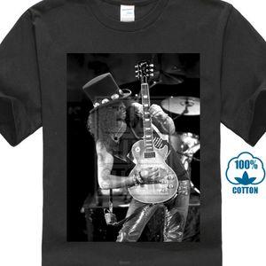 Spedizione gratuita!! Slash Guitar Rock Band Guns N 'Roses White Maglietta Taglia S M L Xl