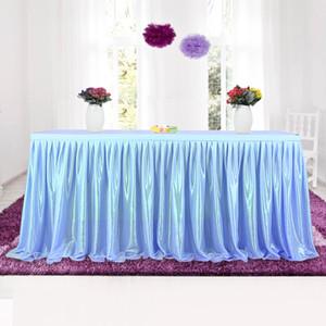 Tulle Tutu Table Jupe Vaisselle Tissu Pour La Fête De Banquet De Mariage Décoration De La Table De Mariage Plinthe 4 Couleurs