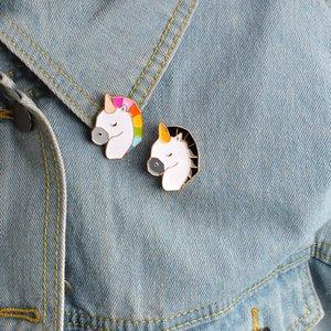 Fräulein Zoe Cartoon Tier bunte Einhorn Pin BFF Brosche Button Pin BFF Jeansjacke Pin Abzeichen Schmuck Geschenk für Kinder Freunde