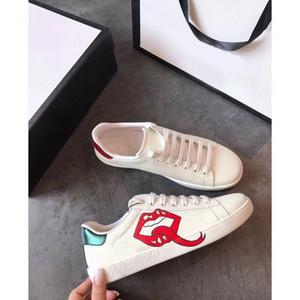 신발 3D 인쇄 남성 여성 스니커즈 최고 품질 진짜 가죽 자수