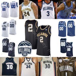 Basket-ball personnalisé Jersey Wildcats Villanova NCAA Jeremiah Robinson-Earl Saddiq Bey Swider Gillespie Samuels Moore Lowry Paschall