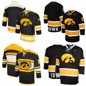 Custom Iowa Hawkeyes Colosseum Machine Athletic Machine Hockey Pull Jerseys cousu n'importe quel nom N'importe quel numéro Hight Qualité Taille S-3XL