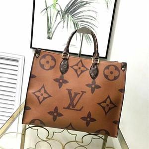 Günstige Verkaufsfrauen echtes Leder hohe Qualität OnTheGo Handtasche 41CM Damen Designer Schultertasche freies Verschiffen-populäres Totes